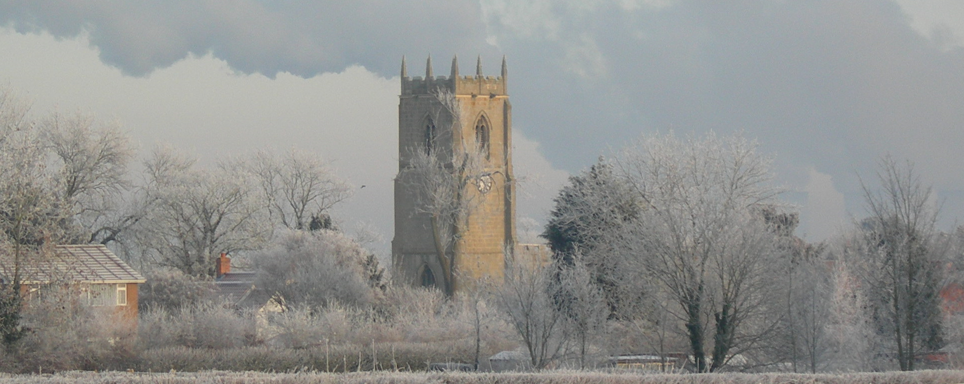 Church on a frosty morning